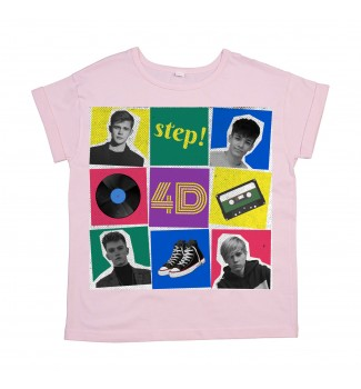 Koszulka oversize damska Step!pink
