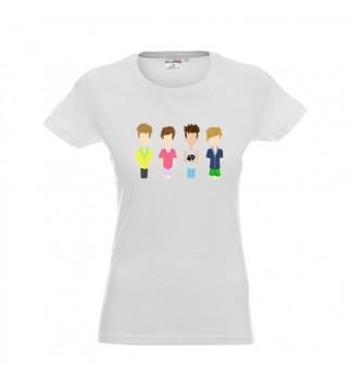Koszulka  biała  grafika 4D