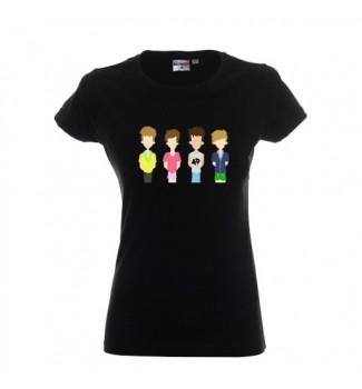 Koszulka czarna grafika 4D